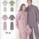 Simplicity Sewing Pattern 1545 Men's Misses Plus Size XL-XXXL Pajamas Pants Pullover Top Shorts