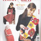 Kwik Sew Sewing Pattern 3734 Newborn Baby Accessories Nursing Cover Baby Sling Swaddling Wrap