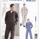 Kwik Sew Sewing Pattern 3389 Men's Sizes S-XXL Zipper Front Coveralls Sleeve Options