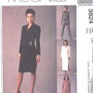 McCall's Sewing Pattern 3824 Misses Size 8-14 Double Breasted Lined Dress Jacket Skirt Pants