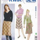 Kwik Sew Sewing Pattern 3003 Misses Sizes XS-XL (approx 6-22) Easy Skirts Knit Tops