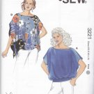 Kwik Sew Sewing Pattern 3221 Misses Sizes XS-XL (approx 6-22) Pullover Loose-fitting Tops