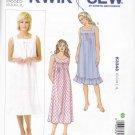 Kwik Sew Sewing Pattern 3343 Misses Sizes XS-XL (approx 6-22) Sleeveless Nightgowns