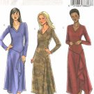 Butterick Sewing Pattern 4284 Misses Size 6-8-10-12 Easy Long Sleeve Dress