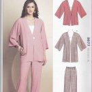 Kwik Sew Sewing Pattern 3677 Misses Sizes XS-XL (approx 6-22) Easy Jacket Pants