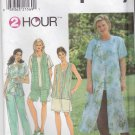 Simplicity Sewing Pattern 8135 Womens Plus Size 18W-24W 2 Hour Wardrobe Tops Pants Vests Shorts