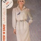 McCalls Sewing Pattern 9111 Misses Size 6-8-10 Misses Long Sleeve Shirtwaist Dress