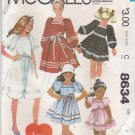 McCalls Sewing Pattern 8634 Girls Size 4 Pullover Ribbon Dress Sleeve Options