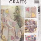 McCall's Sewing Pattern 3901 Raggedy Throws Quilts Pillows Cushions Heart Star