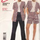 McCalls Sewing Pattern 8767 Misses Size 8-14 Easy Button Front Top Pants Shorts
