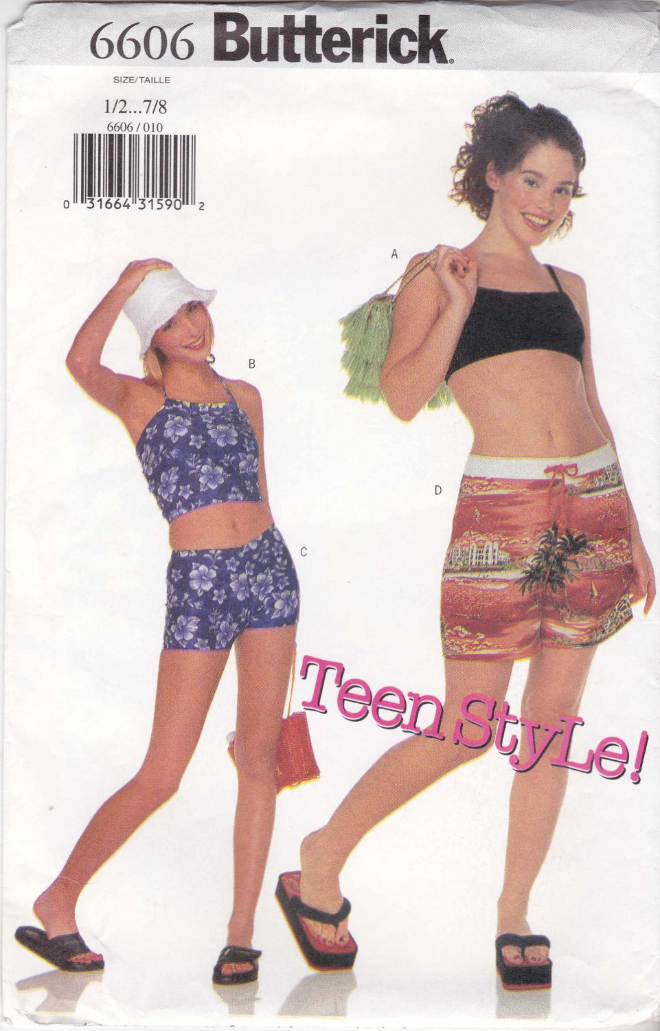 Sewing patterns shorts junior