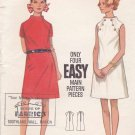 Butterick Sewing Pattern 5050 Misses Size 12 Easy Vintage A-Line Dress Funnel Neck Sleeve Options