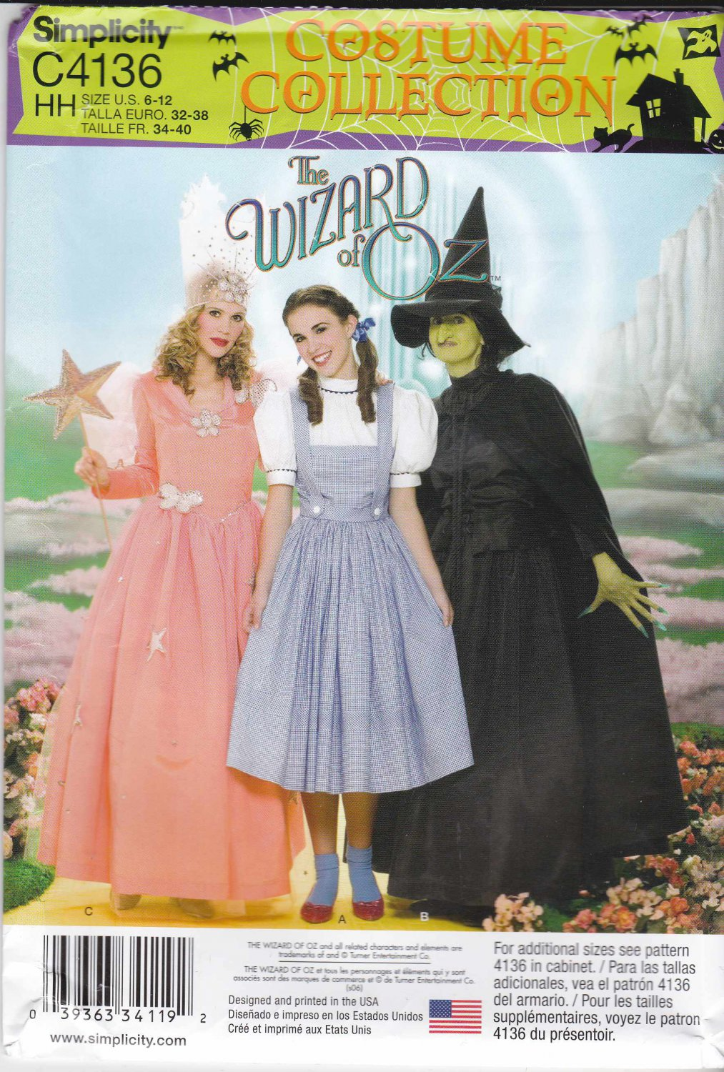 Simplicity Sewing Pattern C4136 4136 Misses Sizes 6-12 Wizard of ...