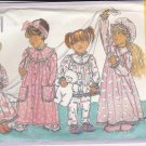 Butterick Sewing Pattern 4413 Girls Size 2-4 Easy Robe Nightgown Hat Pajamas