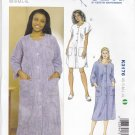 Kwik Sew Sewing Pattern 3176 Misses Sizes XS-XL (approx 6-22) Front Button Robes Two Lengths