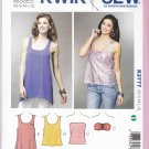 Kwik Sew Sewing Pattern 3777 Misses Sizes XS-XL (approx 6-22) Pullover Tube Tops