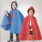 Simplicity Sewing Pattern S0702 0702 Girls Boys Sizes 3-8 Easy Hooded Cape Costume Red Ridinghood