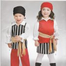 Simplicity Sewing Pattern S0703 0703 Girls Boys Sizes 1/2 - 4 Easy Toddlers Pirate Costumes