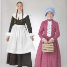 Simplicity Sewing Pattern S0704 0704 Girls Sizes 3-14 Easy Puritan Pioneer Prairie Dresses Bonnets