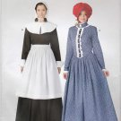 Simplicity Sewing Pattern H0113 Misses Sizes 10-20 Easy Puritan Pioneer Prairie Dresses Bonnets