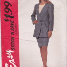 McCalls Sewing Pattern 7212 M7212 Misses Size 18-24 Easy Wrap Front Long Sleeve Jacket Skirt