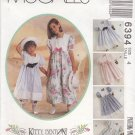 McCalls Sewing Pattern 6394 Girls Size 6 Kitty Benton Dress Pantaloons Hatband