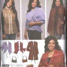 Simplicity Sewing Pattern 4051 Womans Plus Size 18W-24W Jacket Shrug Bolero Purse Vest Khaliah Ali