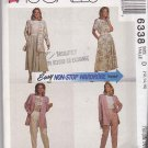 McCalls Sewing Pattern 6338 Misses Size 12-16 Easy Wardrobe Pants Skirt Top Jacket