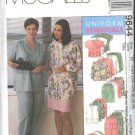 McCall's Sewing Pattern 9644 Womans Plus Size 22W-26W Scrub Medical Nurse Nursing Uniforms