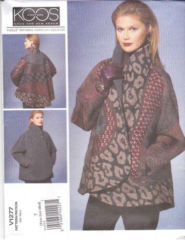 Vogue Sewing Pattern 1277 Misses' 16-26 Koos Van Den Akker Reversible Long Sleeve Jacket