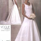 Vogue Sewing Pattern 1163 Misses Size 14-20 Bridal Original Wedding Dress Gown Cut-On Train