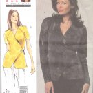 Vogue Sewing Pattern 1164 Misses'/Women's Plus Size 10-32W Easy Knit Woven Front Wrap Top
