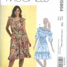 McCall's Sewing Pattern 5864 Misses Size 8-16 Loose Fitting Peasant Dress Sash Ruffles