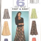 Butterick Sewing Pattern 4136 Misses Size 20-22-24 Easy Flared Short Long Skirts