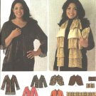Simplicity Sewing Pattern 4349 Misses Size 4-16 Jacket Capelet Wrap Scarf Clutch Purse Khaliah Ali