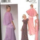 Simplicity Sewing Pattern 5674 Junior Sizes 7/8-15/16 Formal Prom Evening Gown Dress Capelet