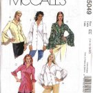 McCall's Sewing Pattern 5049 M5049 Misses Size 6-12  Button Front Blouses Shirts Sleeve Variations