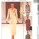 McCall's Sewing Pattern 2290 Misses Size 16-20 Coatdress Jacket Skirt Button Front Dress Suit