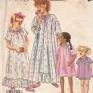 McCalls Sewing Pattern 2567 Girls Size 8-10 Easy Nightgown Robe Baby Doll Pajamas Shorts