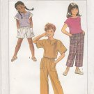 Simplicity Sewing Pattern 6769 Girls Size 10-14 Easy Pullover Tops Pants Shorts