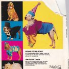 McCalls Sewing Pattern P212 7286 Pet Dog Sizes Small - Large Costumes Clown Yuppie Fairy