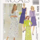 McCall's Sewing Pattern 3294 Misses Size 8-14 Sleeveless A-Line Dress Knit Cardigan Jacket