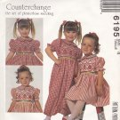 McCalls Sewing Pattern 6195 Girls Size 4 Ann Hallay Smocked Dress Jumpsuit