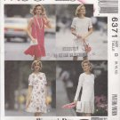 McCall's Sewing Pattern 6371 Misses Size 8-12 3 Hour Dropped Waist Dress Sleeve Options