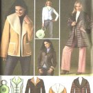 Simplicity Sewing Pattern 4356 Misses Size 6-14 Shearling Coat Jacket Vest Bag Purse