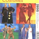 "McCall's Sewing Pattern 2895 Misses Mens Chest Sizes 29 1/2 - 44"" Costumes Caveman Grecian Devils"