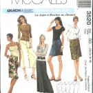 McCall's Sewing Pattern 3520 Misses Size 12-18 Easy Front Button A-Line Short Long Skirt