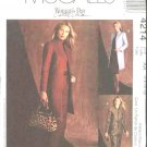 McCall's Sewing Pattern 4214 Misses Size 6-12 Lined Jacket Long Straight Pants  Skirt