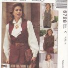 McCall's Sewing Pattern 6728 Misses Size 10-14 3 Hour Top Unlined Vest Shirt Ascot