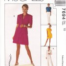 McCall's Sewing Pattern 7694 Misses Size 10 Lined Jackets Button Front Top Pants Shorts